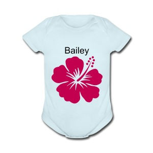 baby clothes with name - Short Sleeve Baby Bodysuit