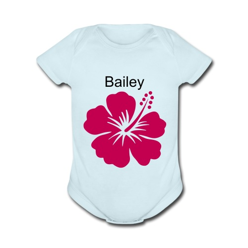 baby clothes with name - Organic Short Sleeve Baby Bodysuit