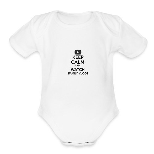Family Vlogs Baby   - Organic Short Sleeve Baby Bodysuit