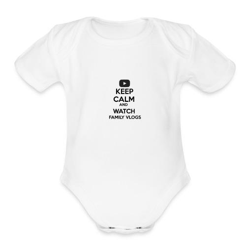 Family Vlogs Baby   - Organic Short Sleeve Baby Bodysuit