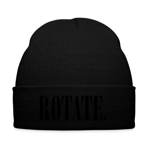 (BLACK/RED) SKULLY HAT - Knit Cap with Cuff Print