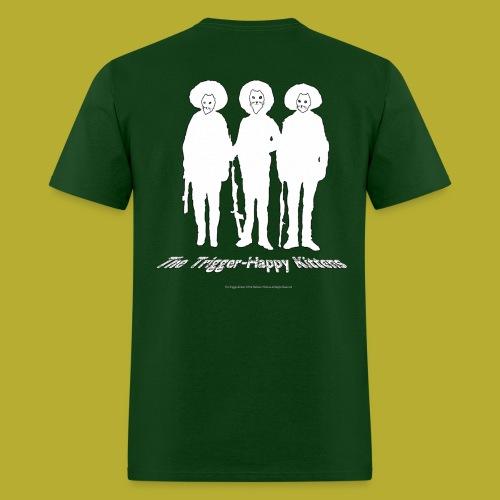 THK Logo Music Note Eyes + Whiskers! - BACK - Men's T-Shirt - Men's T-Shirt