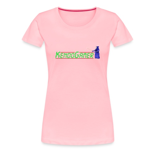 KendoGamer Original Ladies' Fitted T-Shirt - Pink - Women's Premium T-Shirt