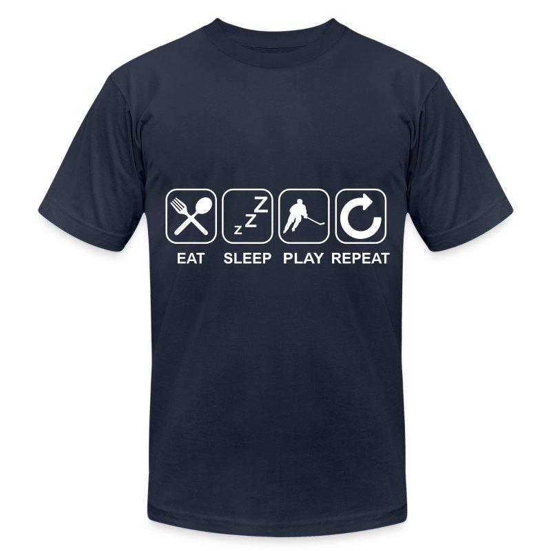 Eat Sleep Play Repeat T-Shirt | Spreadshirt