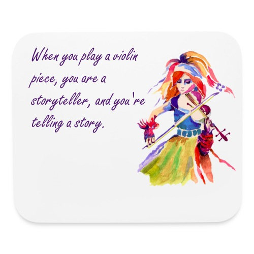 Girl with a violin - Mouse pad Horizontal