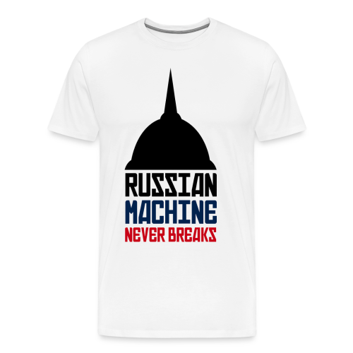 Russian Machine Never Breaks Logo (3XL- Plus Sizes) - Men's Premium T-Shirt