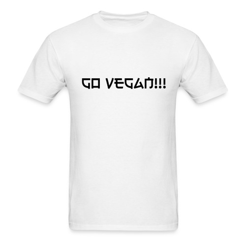 Go Vegan!! T-shirt - Men's T-Shirt