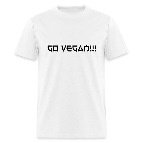 Go Vegan!! T-shirt - Men's T-Shirt