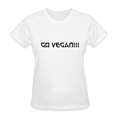 Go Vegan!! T-shirt - Women's T-Shirt