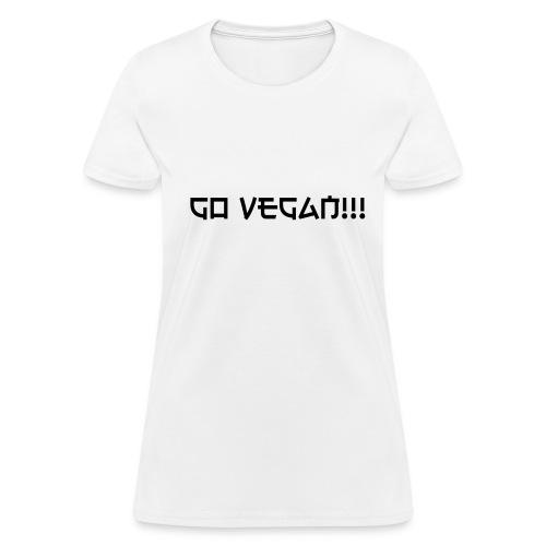 Go Vegan!! T-shirt - Women's T-Shirt