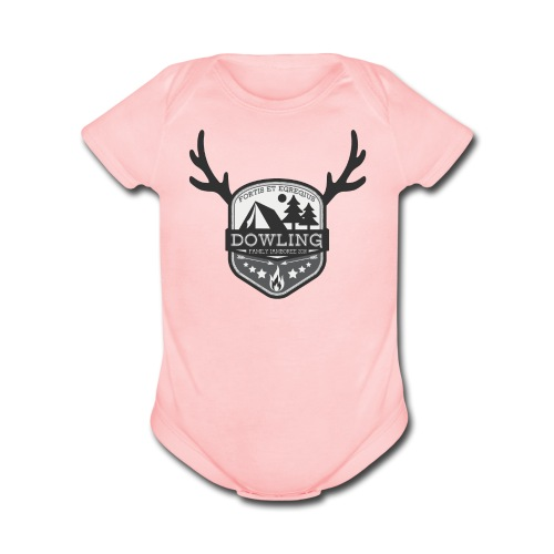 Pink    - Organic Short Sleeve Baby Bodysuit