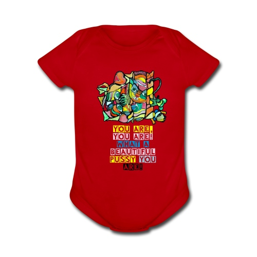 Cat and mouse - Organic Short Sleeve Baby Bodysuit