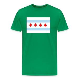 chicago flag blackhawks feathers - Men's Premium T-Shirt