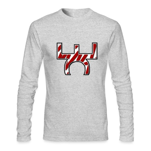 Mens EaSt Long Sleeve Tee - White - Men's Long Sleeve T-Shirt by Next Level