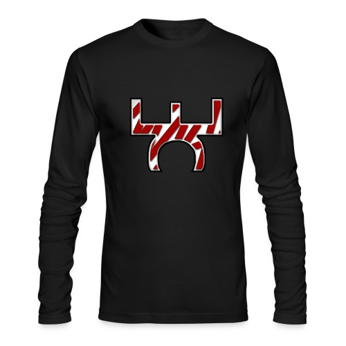 Mens EaSt Long Sleeve Tee - Black - Men's Long Sleeve T-Shirt by Next Level