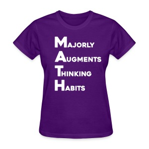 Math Womens Dark - Women's T-Shirt