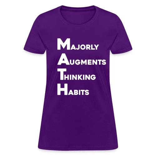 Math Womens Dark - Women's T-Shirt