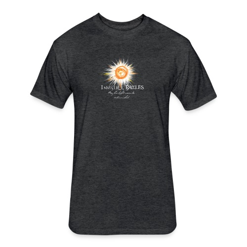 Invisible Battles Men's T-Shirt  - Fitted Cotton/Poly T-Shirt by Next Level