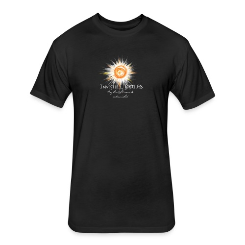 Invisible Battles Men's T-Shirt Black - Fitted Cotton/Poly T-Shirt by Next Level