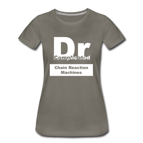 Customizable White DrComplicated T-Shirt Womens - Women's Premium T-Shirt