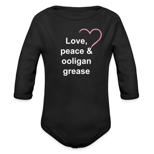 Baby's Ooligan Grease   - Organic Long Sleeve Baby Bodysuit