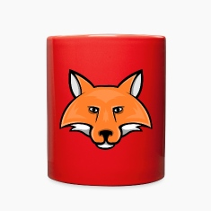 fox head mascot Mugs & Drinkware