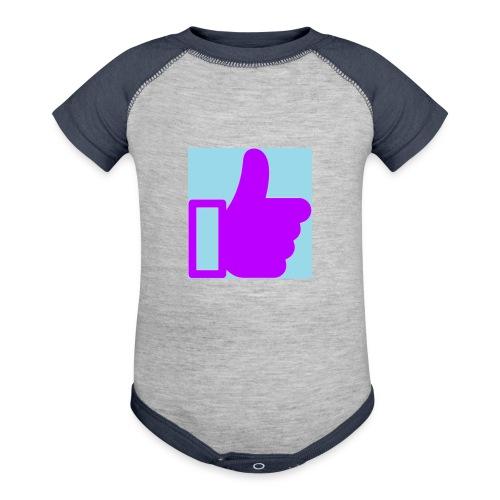 Give Purple Like It Jr - Contrast Baby Bodysuit