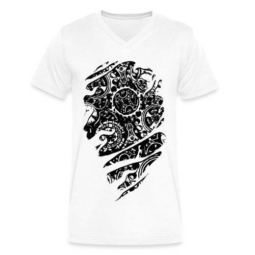 Steampunked Gears - Men's V-Neck T-Shirt by Canvas