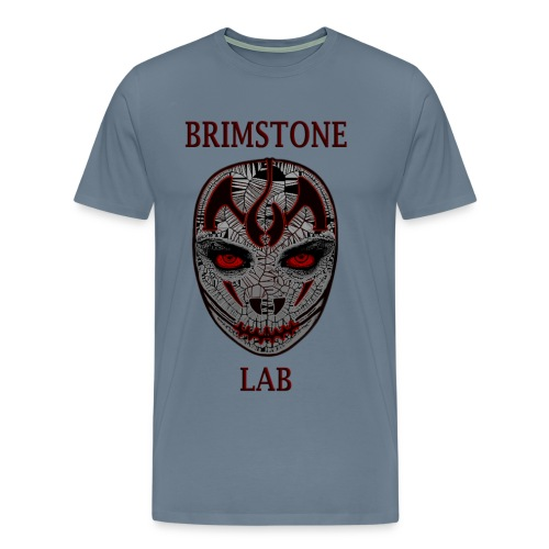 The Brimstone Lab Logo T ( Big Face Red) - Men's Premium T-Shirt