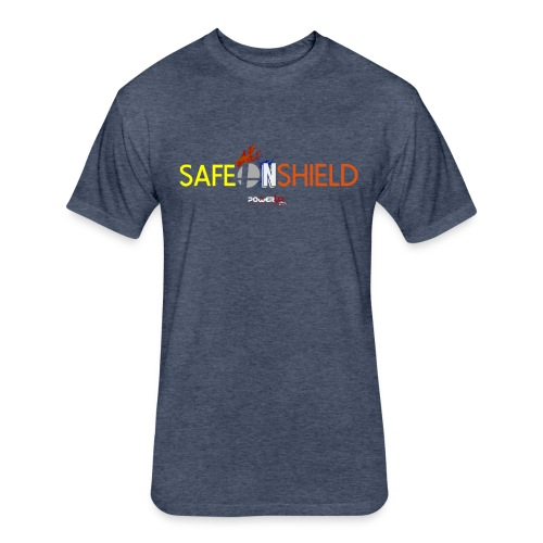 Safe on Shield - Fitted Cotton/Poly T-Shirt by Next Level