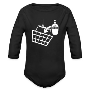 It puts the Lotion in the Basket - Buffalo Bill - Long Sleeve Baby Bodysuit
