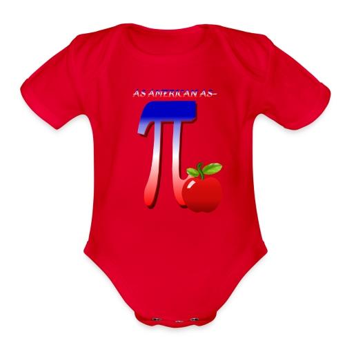 All American Pi - Organic Short Sleeve Baby Bodysuit