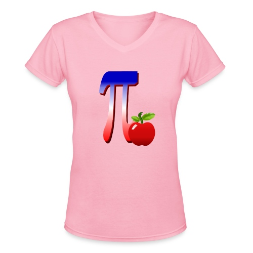All American Pi-plain - Women's V-Neck T-Shirt