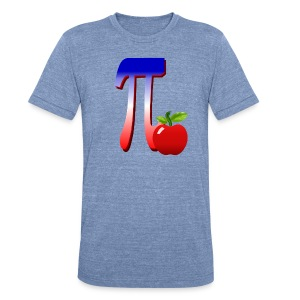 All American Pi-plain - Unisex Tri-Blend T-Shirt by American Apparel