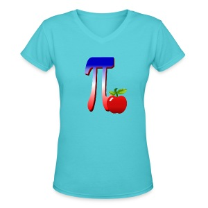 All American Pi-plain - Women's V-Neck T-Shirt
