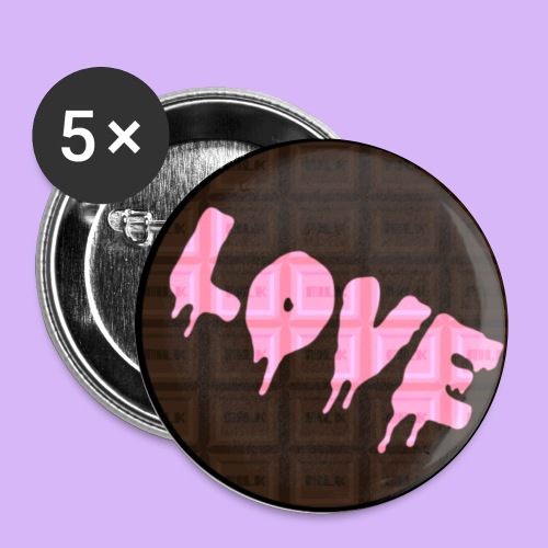 Love Chocolate Button - Small Buttons
