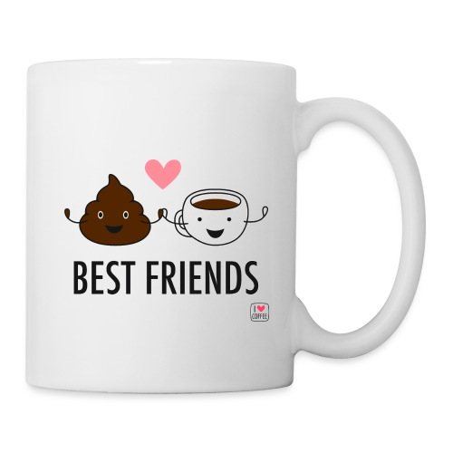 Coffee & poop are best friends - Coffee/Tea Mug