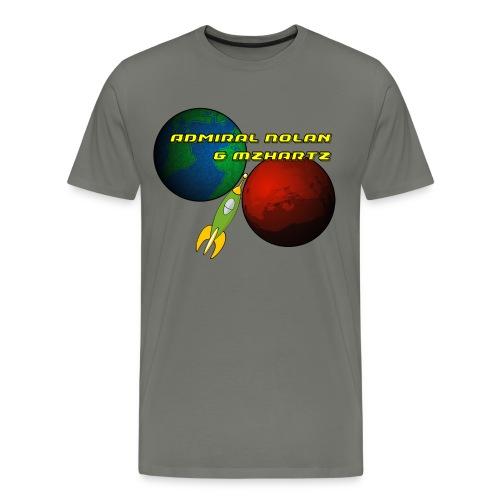 Basic Stream Shirt - Mens Grey  - Men's Premium T-Shirt