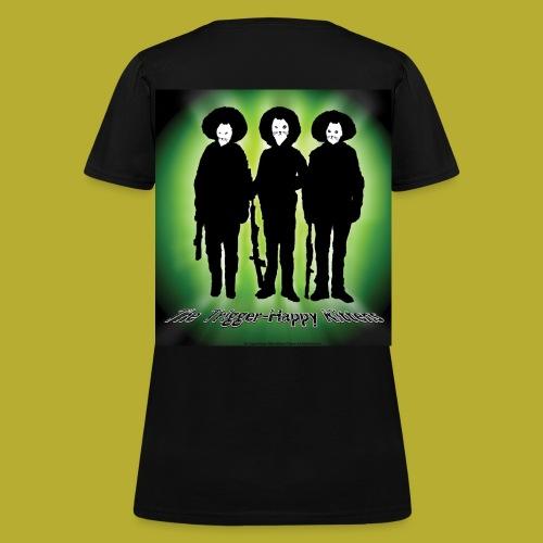 THK - Bandidos B&W & Green Hybrid Silhouette Logo - Women's T-Shirt - BACK - Women's T-Shirt