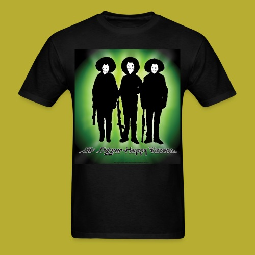 THK - Bandidos B&W & Green Hybrid Silhouette Logo - Men's T-Shirt - FRONT - Men's T-Shirt