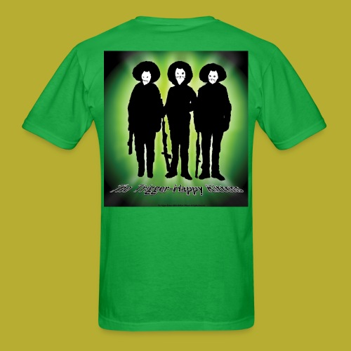 THK - Bandidos B&W & Green Hybrid Silhouette Logo - Men's T-Shirt - BACK - Men's T-Shirt