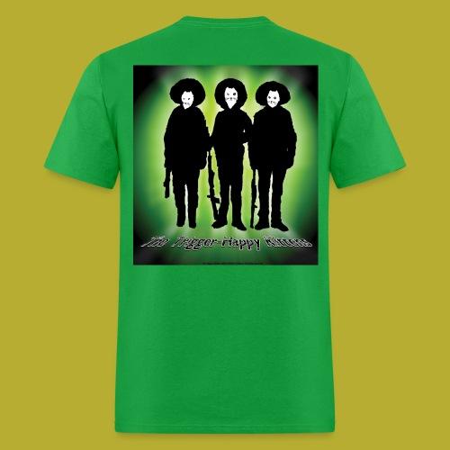 THK - Bandidos B&W & Green Hybrid Silhouette Logo - Men's T-Shirt - BACK - Men's T-Shirt