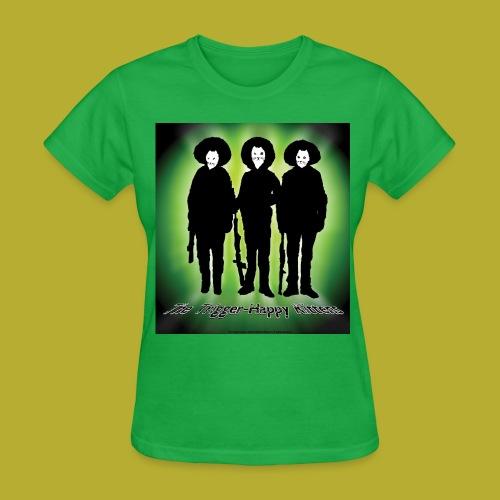 THK - Bandidos B&W & Green Hybrid Silhouette Logo - Women's T-Shirt - FRONT - Women's T-Shirt