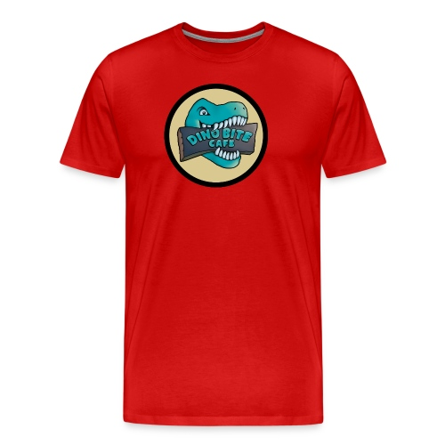 Dino Cafe (XL Sizes) - Men's Premium T-Shirt