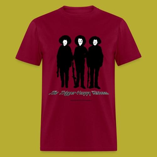 THK - Bandidos B&W Hybrid Silhouette Logo - Men's T-Shirt - FRONT and BACK - Men's T-Shirt