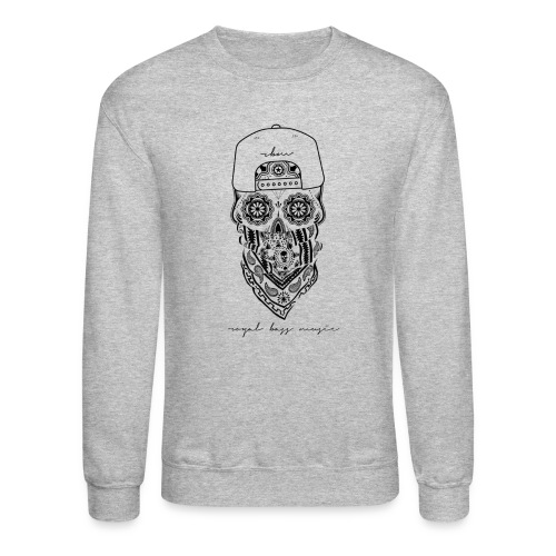 Black Skull Crewneck - Crewneck Sweatshirt