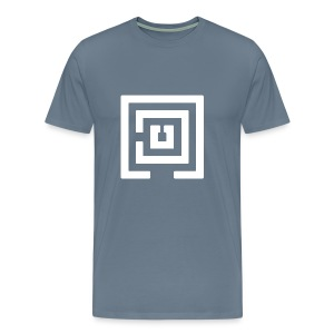 White Logo Mens - Men's Premium T-Shirt