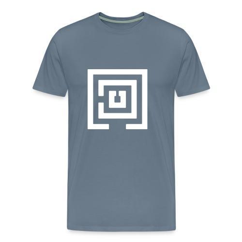 White Logo Mens - Men's Premium T-Shirt