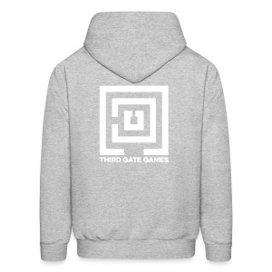 White Logo Sweatshirt Mens - Men's Hoodie