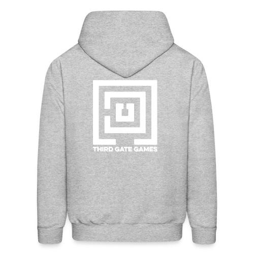 White Logo Sweatshirt Mens - Men's Hoodie